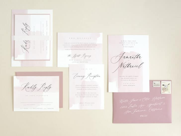 BHLDN invitation suite for minted