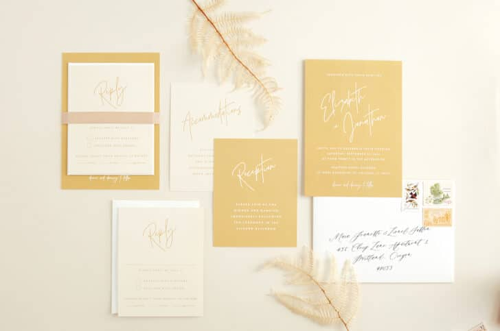 BHLDN invite suite for Minted