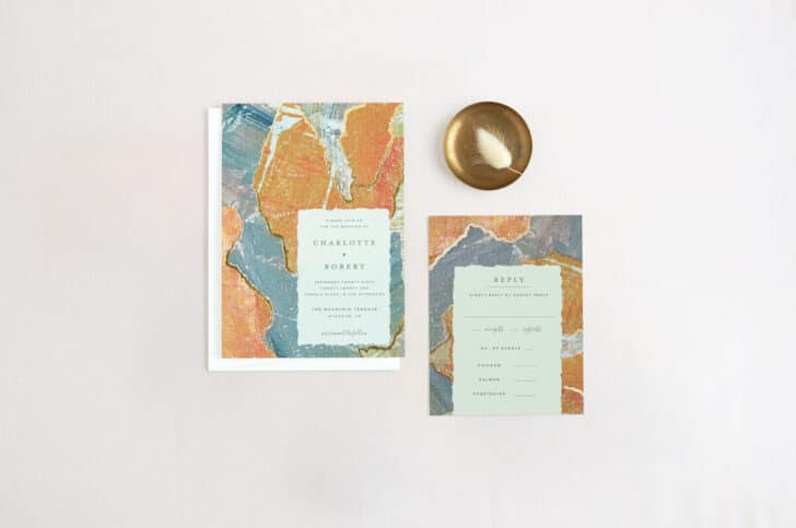 BHLDN Wedding Invitation Collection from Minted