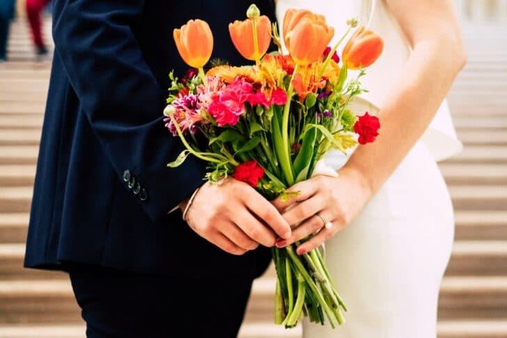 colorful florals - bridal bouquet