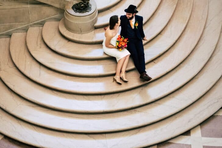 san francisco city hall elopement - staircase