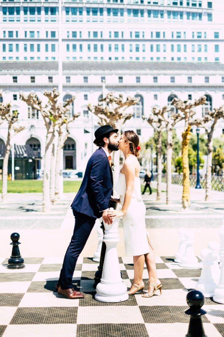 san francisco city hall elopement - bride and groom