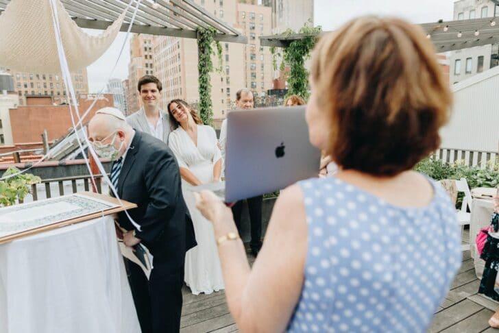 NYC rooftop elopement