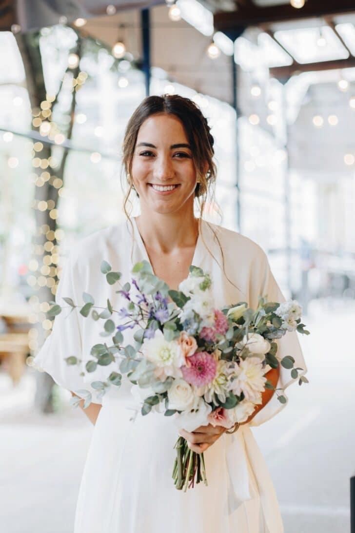 NYC rooftop elopement - bouquet