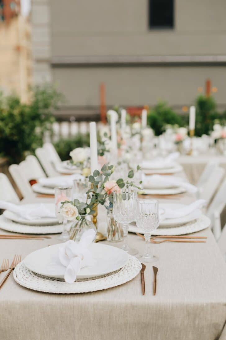 NYC rooftop elopement - tablescape