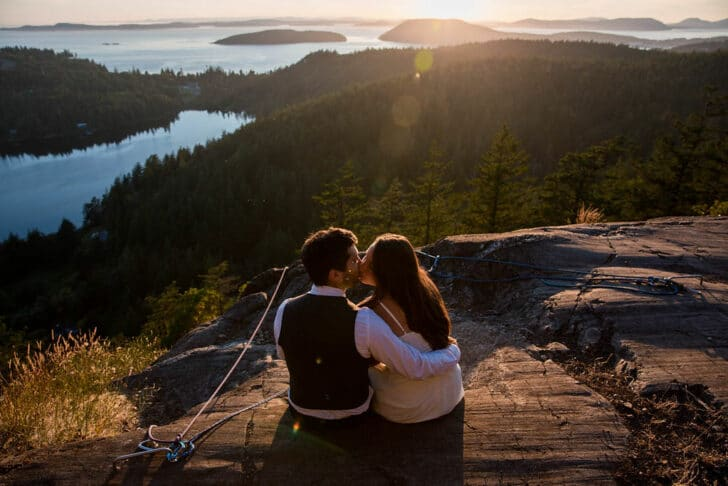 Seattle Rock Climbing Elopement from M. Laine Photography