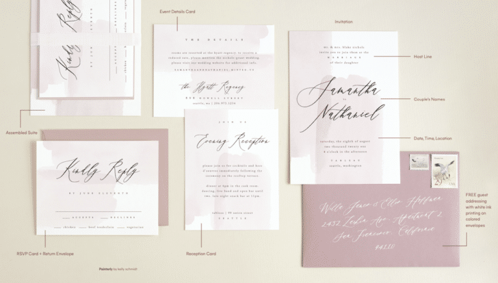 Wedding Invitation Wording from Minted
