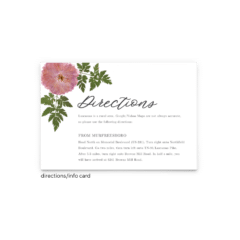 Grace Enclosure Card - Free Printable Wedding Invitations - Edit with Canva!