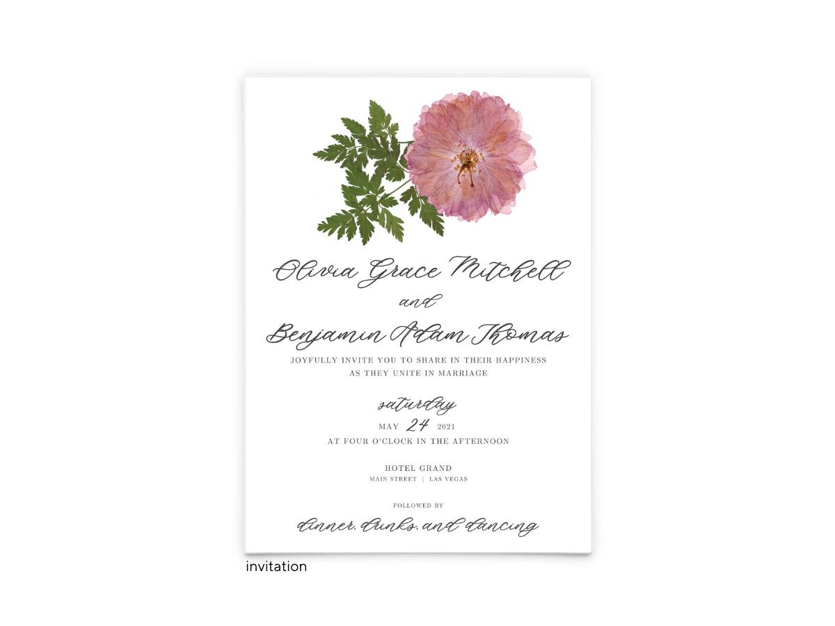 Grace Wedding Invitation - Free Printable Wedding Invitations - Edit with Canva!