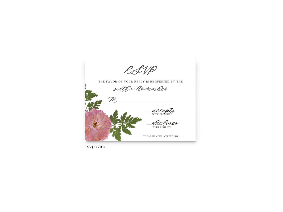 Grace RSVP Card - Free Printable Wedding Invitations - Edit with Canva!