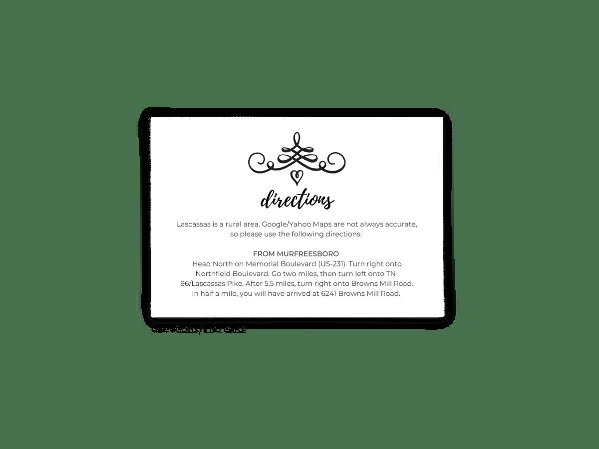 Jennifer Enclosure Card - Free Printable Wedding Invitations - Edit with Canva!