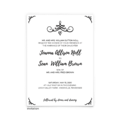 Jennifer Wedding Invitation - Free Printable Wedding Invitations - Edit with Canva!