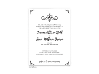 Jennifer Wedding Invitation - Free Printable Wedding Invitations - Edit with Canva!