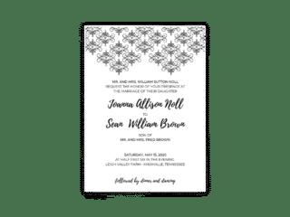 Julie Wedding Invitation - Free Printable Wedding Invitations - Edit with Canva!