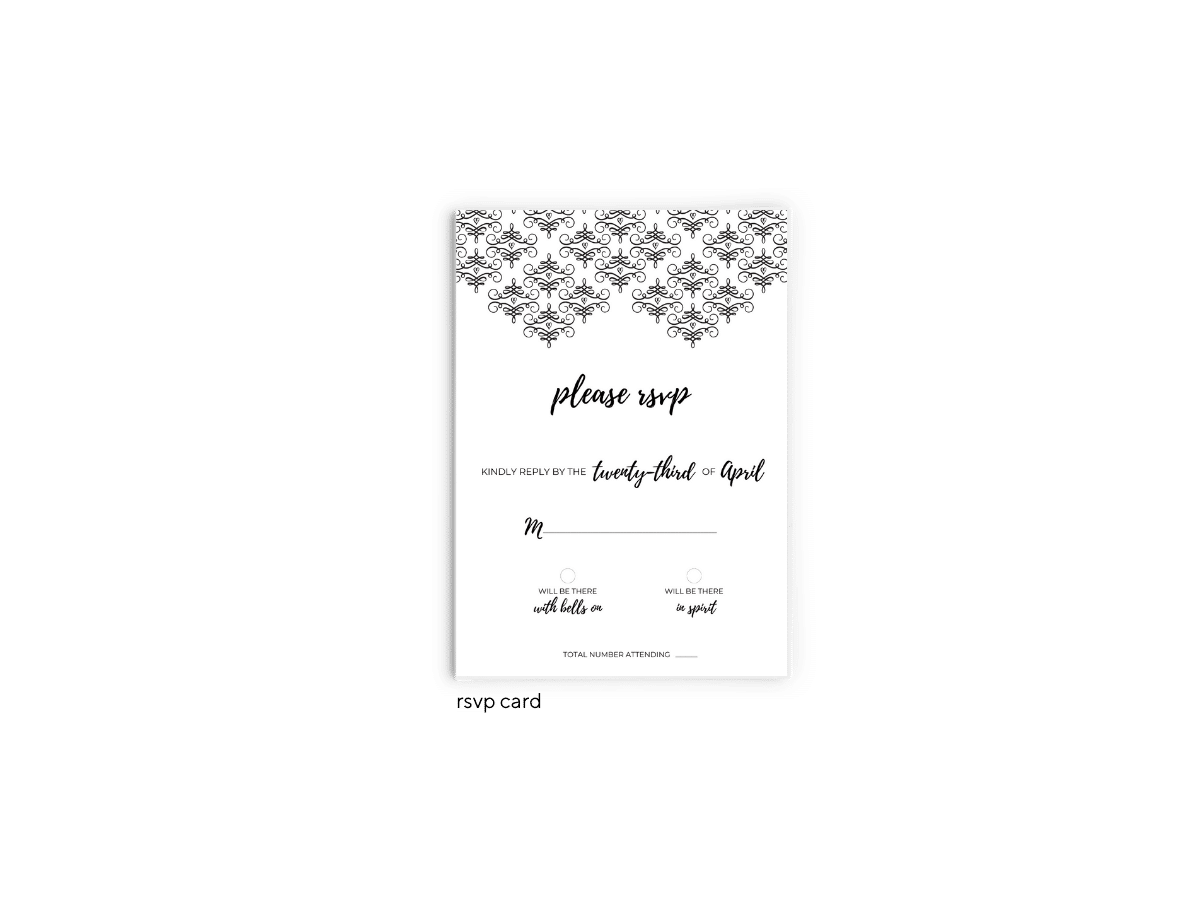 Julie RSVP Card - Free Printable Wedding Invitations - Edit with Canva!