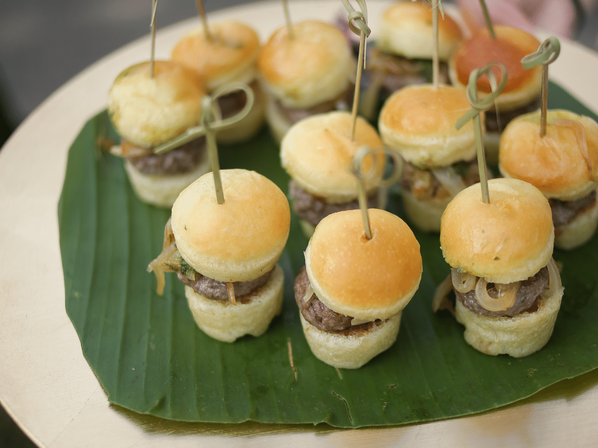 How to Save Money on Wedding Catering - Mini Burgers