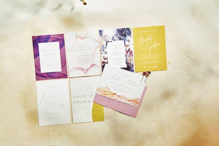 Minted BHLDN Wedding Invitation Collection