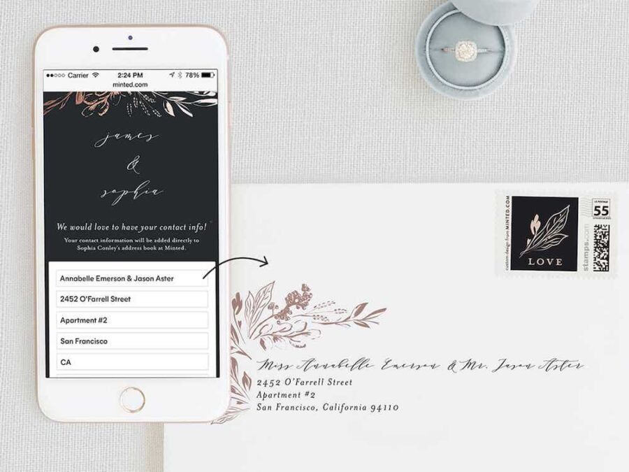 Minted Address Collection Cards
