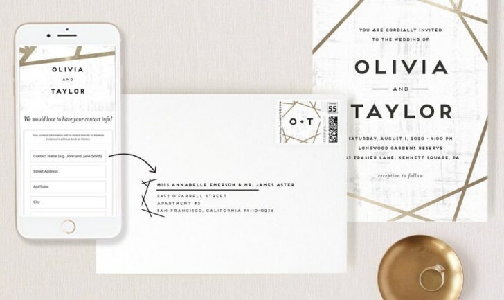 Collect Your Wedding Guest Addresses in a Snap with Minted!