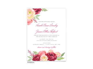 Nickell Wedding Invitation - Free Printable Wedding Invitations - Edit with Canva!