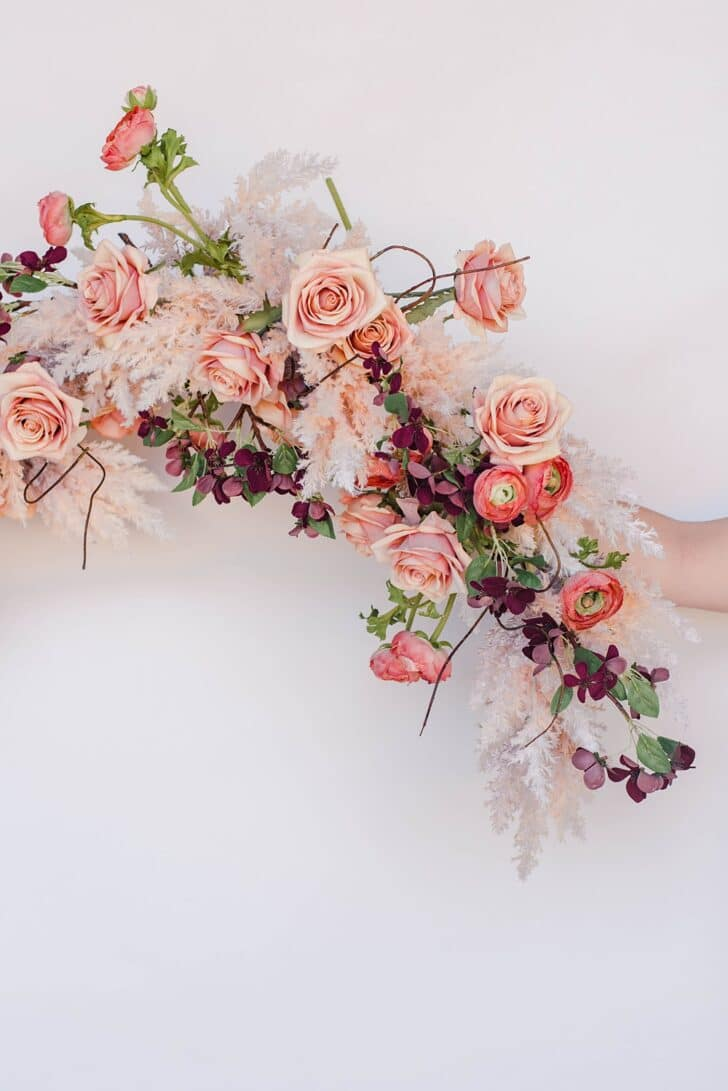 Something Borrowed Blooms Nina Collection - Boho Wedding Style Inspiration - Nina Floral Garland