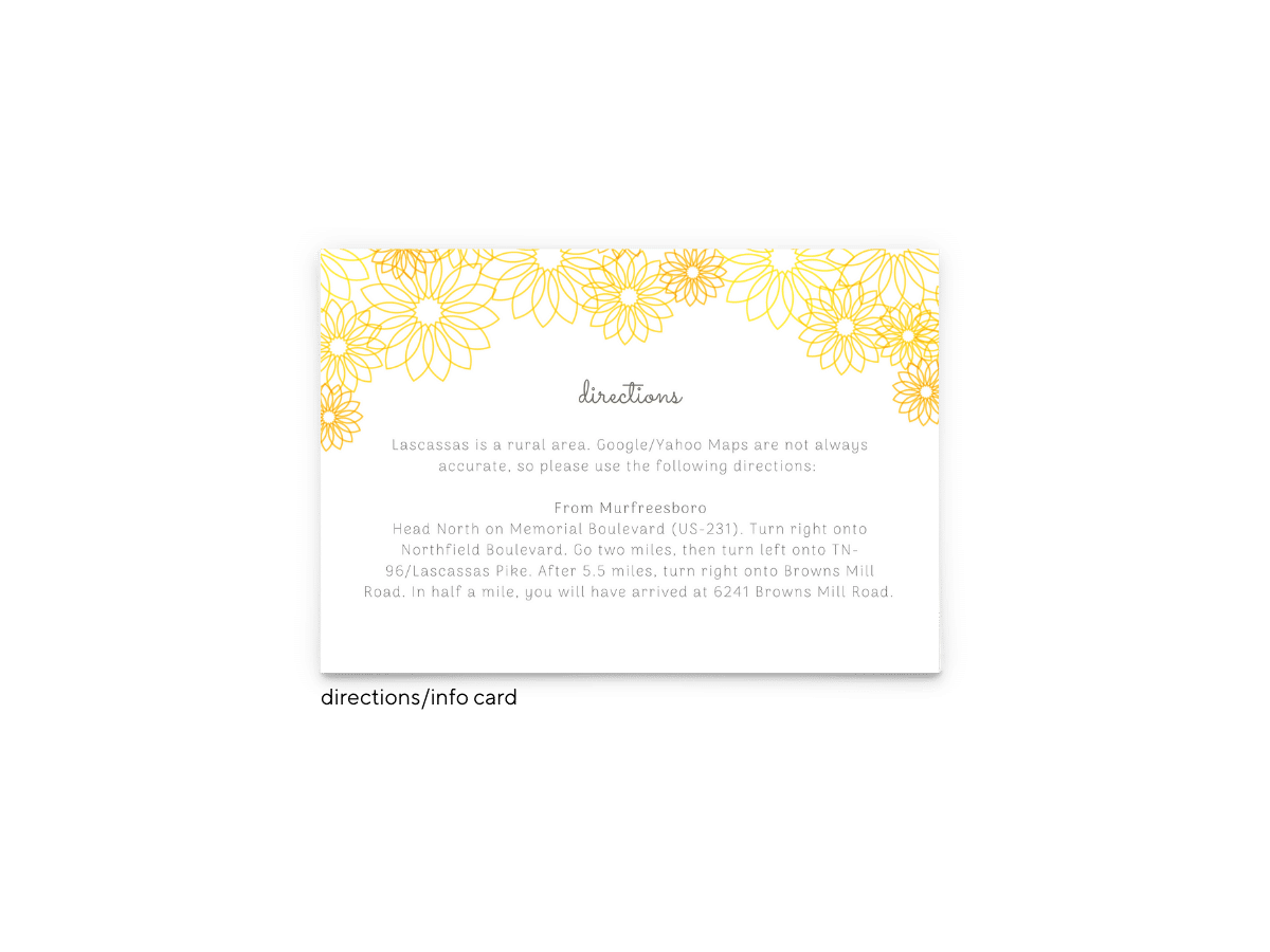Lily Wedding Enclosure Card - Free Printable Wedding Invitations - Edit with Canva!