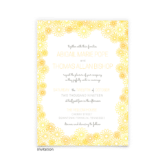 Lily Wedding Invitation - Free Printable Wedding Invitations - Edit with Canva!