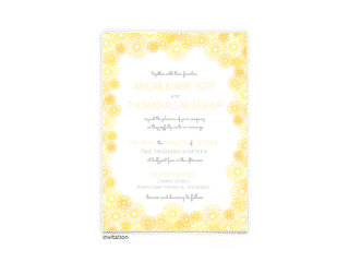 Lily Wedding Invitation - Free Printable Wedding Invitations - Edit with Canva!