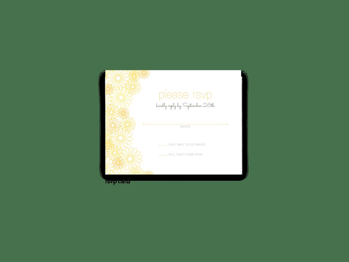 Suzy Wedding RSVP Card - Free Printable Wedding Invitations - Edit with Canva!