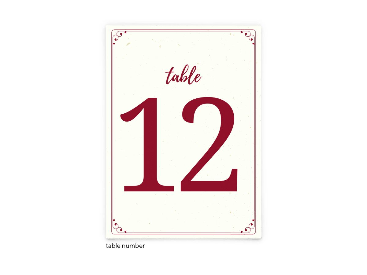 Free Editable Wedding Table Numbers • Mallory Collection • The Budget Savvy Bride