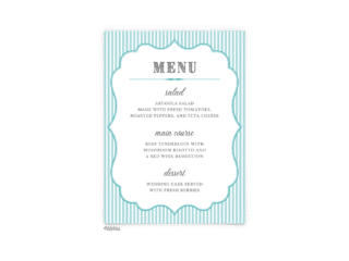 Free Editable Wedding Menus • Amber Collection • The Budget Savvy Bride