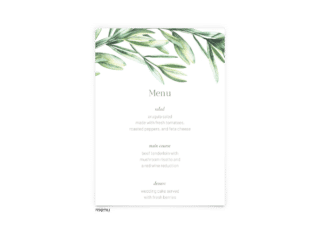 Free Editable Wedding Menus • Chelsea Collection • The Budget Savvy Bride