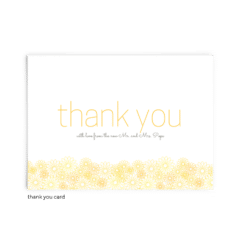 Free Editable Wedding Thank You Cards • Suzy Collection • The Budget Savvy Bride