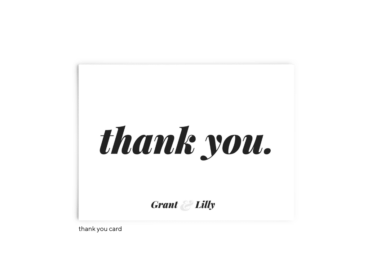 Free Editable Wedding Thank You Cards • Lily Collection • The Budget Savvy Bride