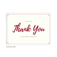 Free Editable Wedding Thank You Cards • Mallory Collection • The Budget Savvy Bride