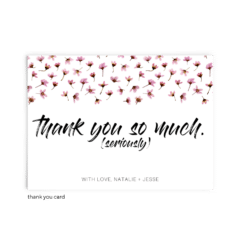 Free Editable Wedding Thank You Cards • Natalie Collection • The Budget Savvy Bride