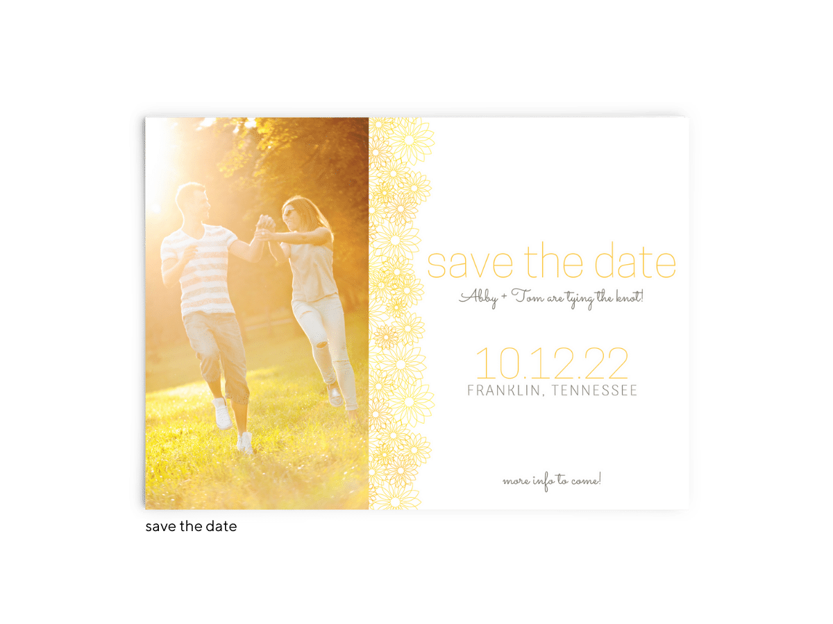 Save the Date Card • Suzy Collection • The Budget Savvy Bride