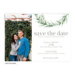 Save the Date Card • Chelsea Collection • The Budget Savvy Bride
