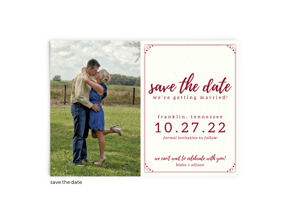 Save the Date Card • Mallory Collection • The Budget Savvy Bride