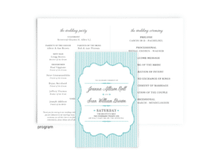 Free Editable Wedding Program • Amber Collection • The Budget Savvy Bride