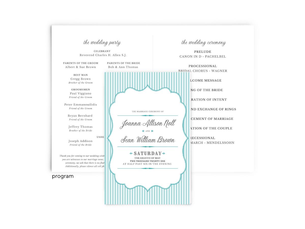 Free Editable Wedding Program • Amber Collection • The Budget Savvy Bride