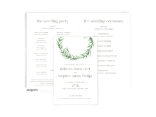 Free Editable Wedding Program • Chelsea Collection • The Budget Savvy Bride