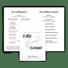 Free Editable Wedding Program • Lily Collection • The Budget Savvy Bride