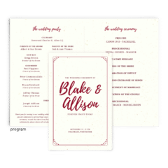 Free Editable Wedding Program • Mallory Collection • The Budget Savvy Bride