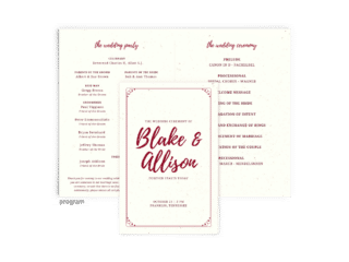 Free Editable Wedding Program • Mallory Collection • The Budget Savvy Bride