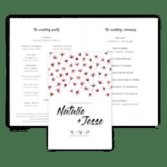 Free Editable Wedding Program • Natalie Collection • The Budget Savvy Bride