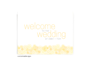 Free Editable Wedding Signs • Suzy Collection • The Budget Savvy Bride