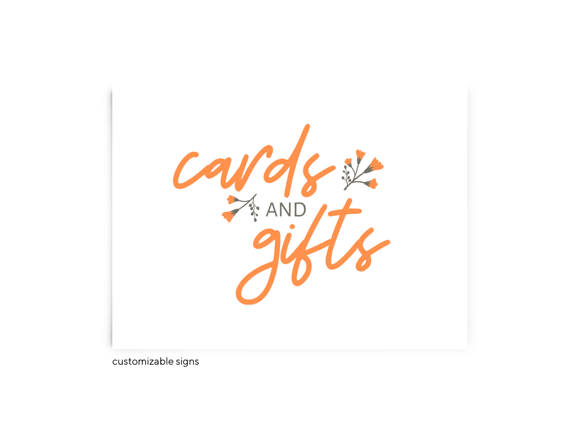 Free Editable Wedding Signs • Bryce Collection • The Budget Savvy Bride