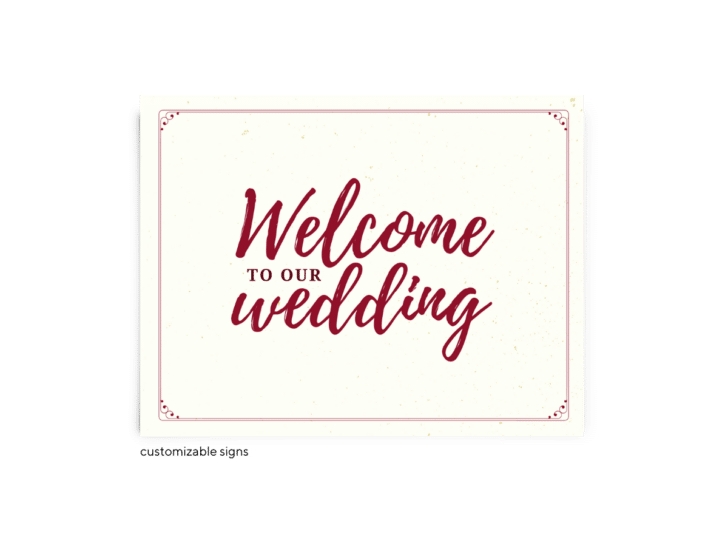 Free Editable Wedding Signs • Mallory Collection • The Budget Savvy Bride
