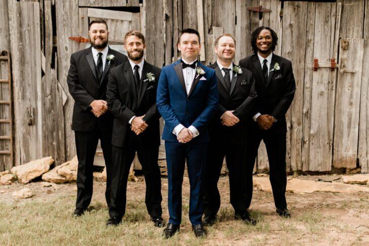 groomsmen attire  -black tux